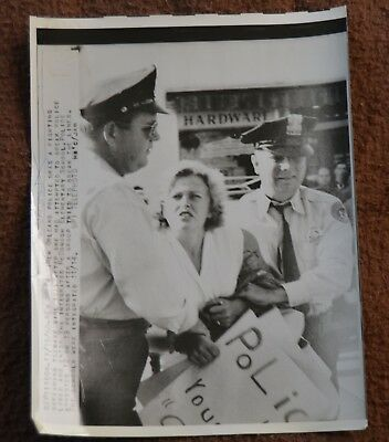 1960 Civil Rights African American Photo New Orleans Racist Protest Integration