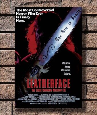 Art Poster 24x36 27x40 LEATHERFACE-The TEXAS CHAINSAW MASSACRE III 3 Movie T2093