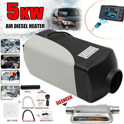 5KW Air Diesel Heater 12V Car Boat Truck Quiet Parking Heater w/ Digital Switch