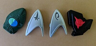 Star Trek Kelloggs Communicator Badges LED Command Engineering Klingon Romulan