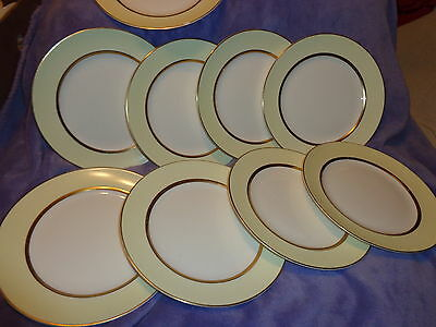 9- Vintage China Dinner  Plates ~ Pope Gosser ~Warranted Coin Gold