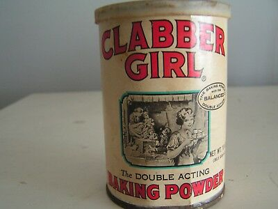 Vintage Clabber Girl Baking Powder 10 Ounce Size