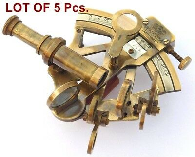 "3"" Solid Brass Sextant Nautical Working Instrument Astrolabe Ships Lot Of 5"