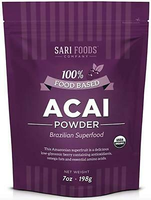 Organic Acai Powder (7 Ounce): Natural Freeze Dried Superfood, Non-Synthetic