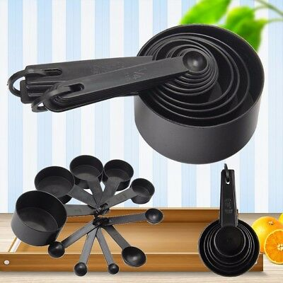 10PCS Plastic Measuring Cups & Spoons Kitchen Cooking Baking Bakery Cakes Set