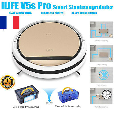 ILIFE V5S Pro Automatique Aspirateur Smart Robotic Dry Wet Sweeping Cleaner FR