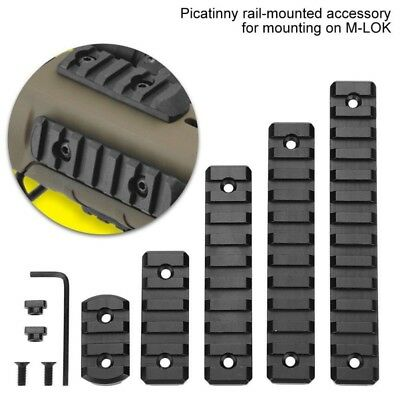 US 3/5 /9/11/13 slot M-lok Rail Sections Black Anodized Picatinny/Weaver Segment