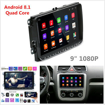 "9"" Quad Core Android 8.1 Car Stereo Radio 2 Din GPS Navigation For VW Golf Polo"