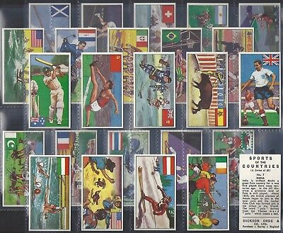 Dickson Orde-Full Set- Sports Of The Countries (25 Cards) Baseball Babe Ruth