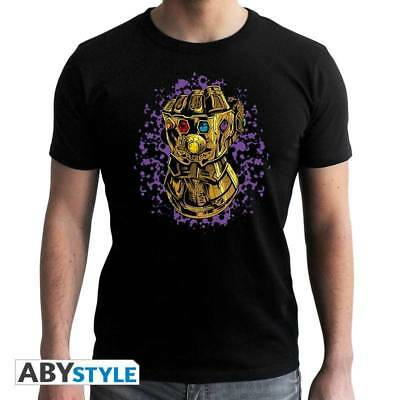 MARVEL - Tshirt Infinity Gauntlet man SS black - new fit Taglia:SMALL Abystyle N