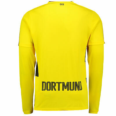 Official BVB Borussia Dortmund Home Shirt Jersey 17/18 Long Sleeve Top Puma Mens