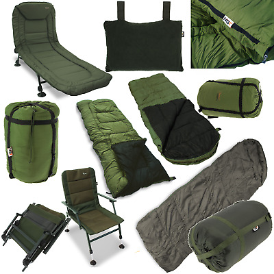 Ngt Carp Fishing 6 Leg Bedchair Xpr Chair 5 Season Sleeping Bag Dynamic Pillows
