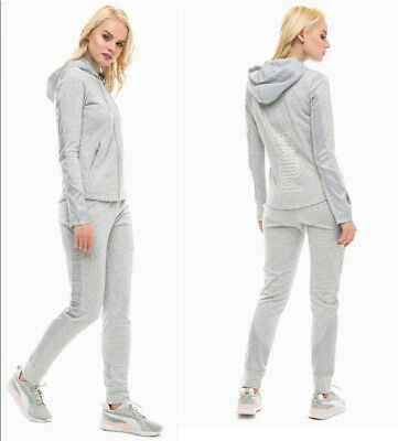 PUMA Kinder Hoody Trainingsanzug Jogginganzug Baumwolle Sweat Suit grau Gr.164