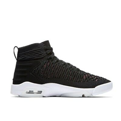 6aa4e90957258f Nike Air Jordan Flyknit Elevation 23 GS Youth Kids Basketball Shoes Black  Red