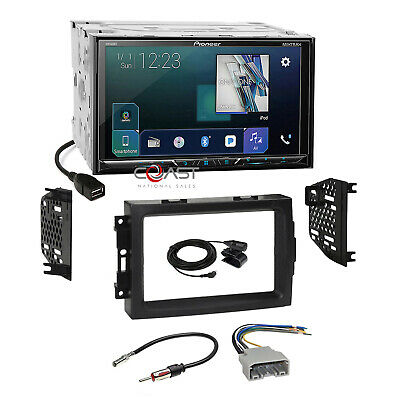 "Pioneer 7"" DVD GPS Ready Stereo Dash Kit Harness for 04-08 Chrysler Dodge Jeep"