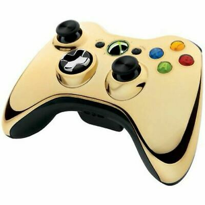 Microsoft XBOX 360 Special Edition Wireless CHROME GOLD Controller 43G-00019
