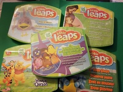 Lot of Five (5) Leap Frog Baby Little Leaps Learning System DVDs- Backyardigans