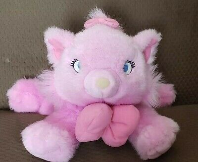 "Disney Store Marie 12"" Plush Kitten Cat From The Aristocats Pink NICE"