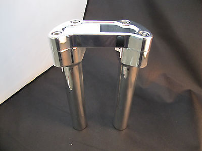 """Harley FXR Dyna XL 10"""" Risers Polished Billet Aluminum 1-1/4 Thick USA Made"""