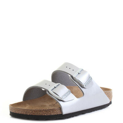 0fb3edcdc3f8 WOMENS BIRKENSTOCK ARIZONA BS Silver Narrow Fit Classic Sandals Sz ...
