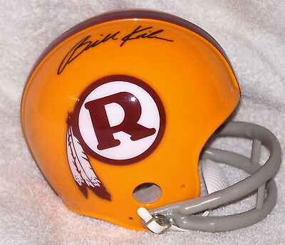 4acb8730 BILLY KILMER SIGNED Mini Helmet Washington Redskins