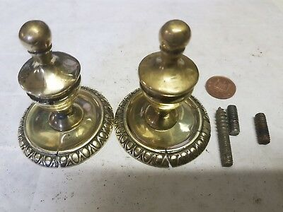 2 Curtain pole ends can be Clock Lamp Finial's ANTIQUE cast BRASS C1920 OLD