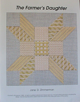 Jane Zimmerman The Farmer's Daughter Counted Needlepoint Chart/Pattern
