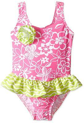 ccee48505e Flap Happy Little Girls UPF 50+ Serena Contrast Swimsuit, Hula Hibiscus, 3