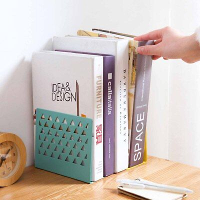 Heavy Duty Iron Metal Mesh Bookend Office Stationery School Holder Colorful