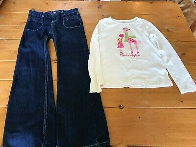 Girls Gymboree Size 10 Long Sleeved Fall/Winter Outfit(Long Sleeved top & Jeans)