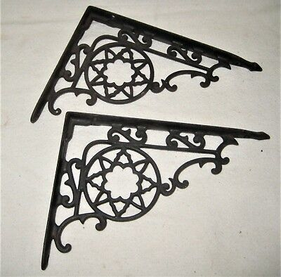 Pair of Antique Victorian Shelf Brackets - Large Size