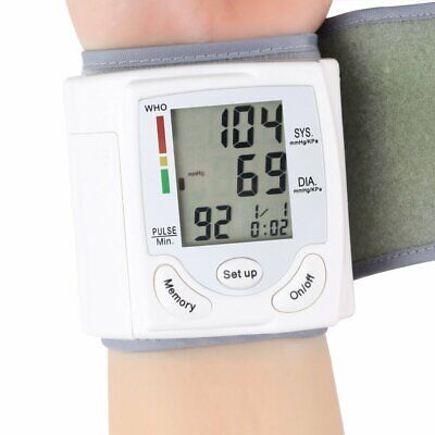 Automatic Wrist Blood Pressure Monitor Heart Rate Tester Meter Machine Tonometer