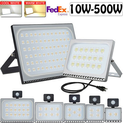 LED Flood Light 500W 300W 200W 150W 100W 50W 30W 20W 10W PIR Motion Outdoor Lamp