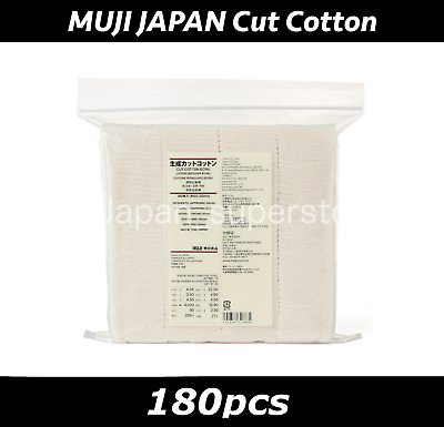 New MUJI MoMA UNBLEACHED CUT COTTON Organic Facial Pads 180pcs Free Shipping D4