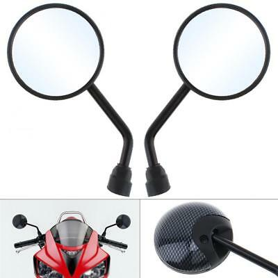 2x Universal 10mm Motorcycle Rearview Mirror Modified Plated Round Metal Mirror