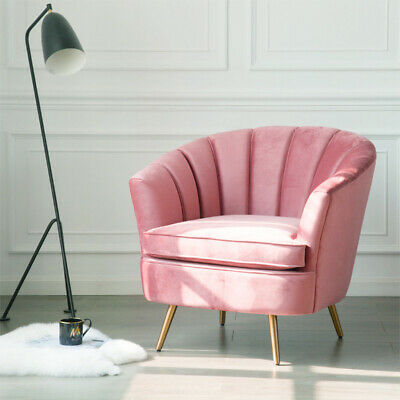 Vintage Wing Back Armchair Vellum Chair Lounge Blush Pink Sofa Velvet Upholstery