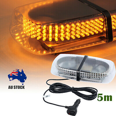 12V 240LED Hazard Amber Vehicle Magnetic Roof Top Emergency Warning Strobe Light