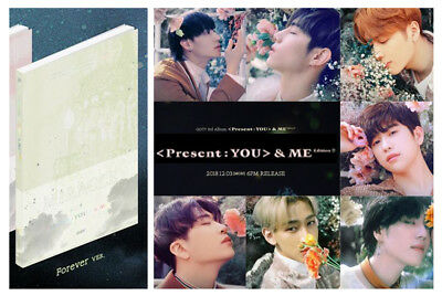 GOT7 K-POP[Forever Ver.] PRESENT YOU&ME Edition Repackage 3rd Album CD+Photocard