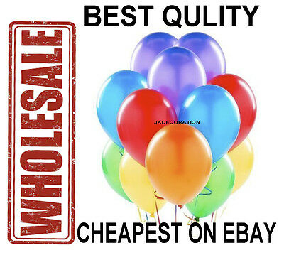 "100 X10"" WHOLESALE Latex HELIUM BALLOONS Quality Party Birthday Wedding Baloons"