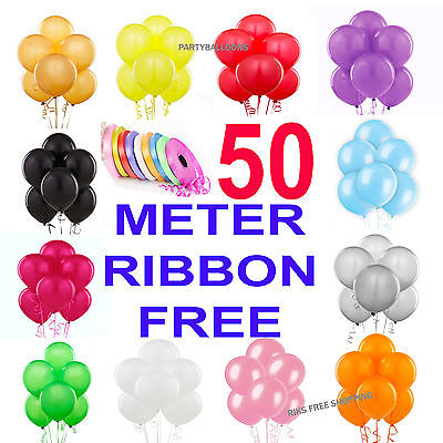 "10"" inch Large Plain Latex Birthday Wedding Party Baloons Ballons Balon"