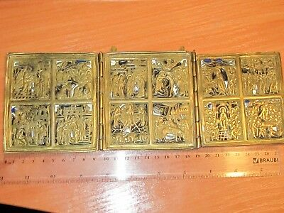 Rare icon triptych, twelve great holidays