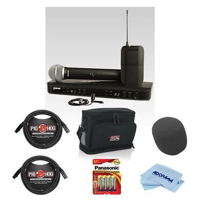 Shure BLX1288/CVL Handheld  Lavalier Combo Mic System, H9: With Accessory Kit