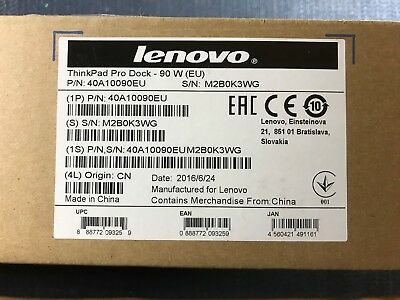 Lenovo 40A10090EU Thinkpad pro dock NEW ! complete !