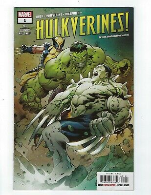 Hulkverines # 1 Cover A NM Marvel Ship Feb 20th