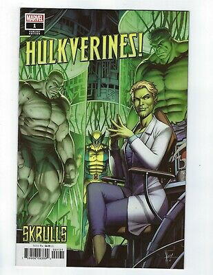 Hulkverines # 1 Keown Skrulls Variant Cover NM Marvel Ship Feb 20th