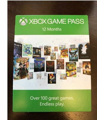 Microsoft XBOX GAMEPASS 12 MONATE GAME PASS
