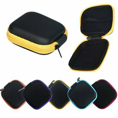 Hearing Aid Case Square Black Zip Storage Hard Carry Case Holder Heavy Duty Best