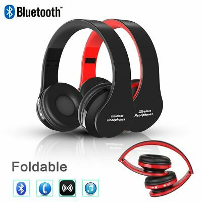 Wireless Headphones Bluetooth 3.0 Headset Noise Cancelling Over Ear Built-in Mic