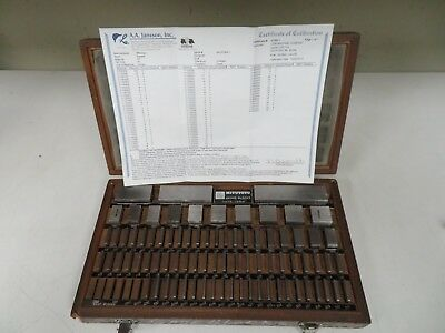 Mitutoyo 81 piece Square, English Gage Block Set (cal'd 2015 w/ cert) - NH31