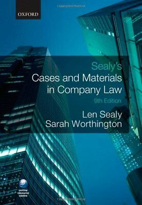 Sealy's Cases and Materials in Company Law By Len Sealy, Sarah Worthington